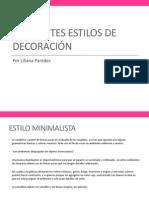 DIFERENTES ESTILOS DE DECORACIÓN