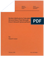 Modern Methods for Calculating Ground-Wave Field Strength Over-A-Smooth Spherical Earth by Robert P. Eckert FCC, 01-1986.