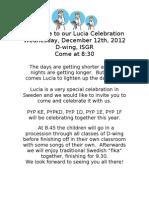Invitation to Lucia