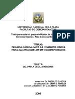 TERAPIA GÉNICA PARA LA HORMONA TÍMICA TIMULINA EN MODELOS DE TIMODEFICIENCIA