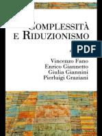 Isonomia-Epistemologica_Fano_Giannetto_Giannini_Graziani_Complessità e riduzionismo