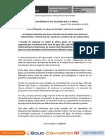 BOLETÍN DE PRENSA 055-2012