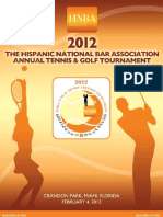 2012 HNBA Tennis & Golf Tournament