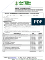 Certificat en Aprrovisionnement Et Gestion Des Stocks