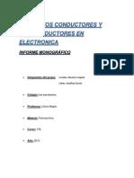 Elementos Conductores y Semiconductores en Electronica