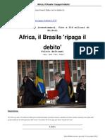 15 Africa Il Brasile 'Ripaga Il Debito' 15 11 12