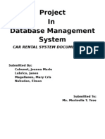 Car Rental System Documentation