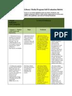 Georgia DOE 2012 Library Media Program Self-Evaluation Rubric