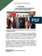 NP. PROMPERÚ Y AMDA PRESENTAN DOCUMENTAL TURÍSTICO 15112012