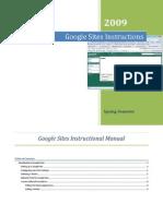 Google Sites Instructional Manual