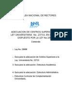 ANR - GUÍA PARA LA ADECUACIÓN DE INSTITUCIONES EDUCATIVAS A LA LEY UNIVERSITARIA