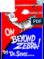 Dr. Seuss - On Beyond Zebra!