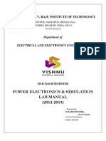 Power Electronics Lab Manual (2012-2013)