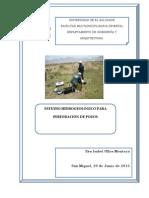 Estudio Hidrogeologico Para Perforaciones de Pozo