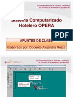 Opera - sistema Hotelero