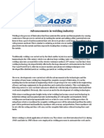 Advancements in Welding Industry