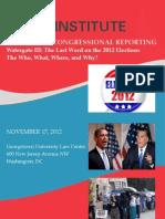 POLITICAL & CONGRESSIONAL REPORTING Watergate III