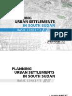 Planning Urban Settlements in South Sudan