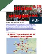 Noticias Uruguayas Viernes 16 de Noviembre Del 2012