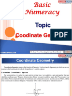 Basic Numeracy Coordinate Geometry