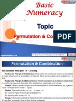 Basic Numeracy Permutation Combination