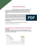 Conversión de un número del sistema decimal al sistema binario y viceversa