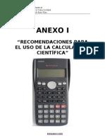 Anexo I - Uso de La Calculadora