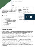Bebop - Wikipedia, La Enciclopedia Libre