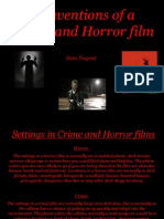 Conventions of a Crime and Horror Film