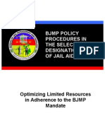 Proposed BJMP Policy Procedures in the Selection and Designation of Jail Aides