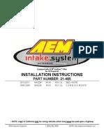 Mazda RX8 - AEM Induction System