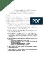 LINEAMIENTOS GENERALES PARA LA PRESENTACIÓN DE TRABAJOS DE GRADO