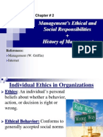 Management Ethical and Social Responsibilities