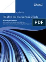 Cl-Henley Centre HR and the Recession Research Report 2012