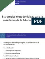 7. Estrategias metodológicas para la enseñanza de la Educación física
