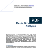 STRUCTURAL ANALYSIS Matrix Structural Analysis