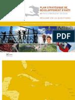 PLAN STRATÉGIQUE de DÉVELOPPEMENT d'HAïTI >> PAYS ÉMERGENT EN 2030