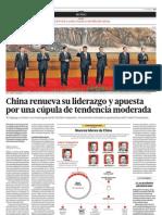 China renueva su liderazgo y apuesta por una cúpula de tendencia moderada