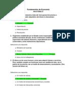 Act. 9 Quiz 2 - Fundamentos de Economia