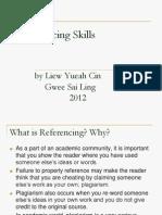 2012_Referencing Skills Workshop