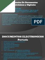 DOCUMENTOS ELECTRÓNICOS ,