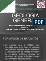 Escuela Profecional de Ingenieria Geologica Trabajo de Formacion de Batolitos