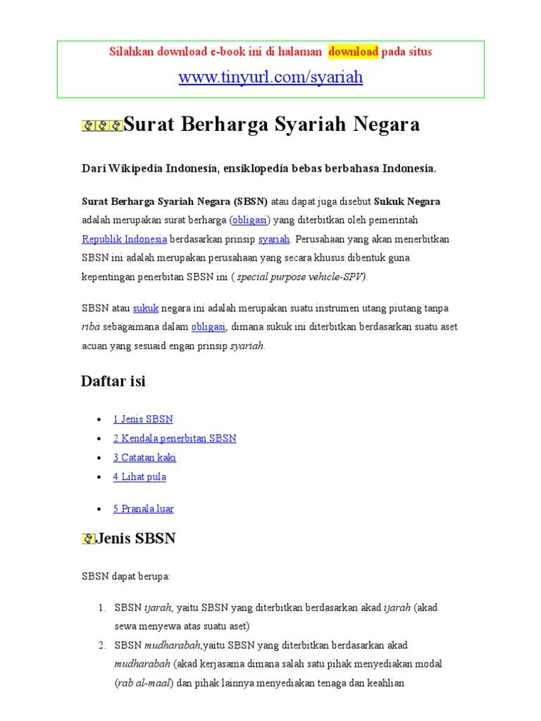 Surat Berharga Syariah Negara