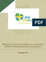 Mensaje JMJ Río