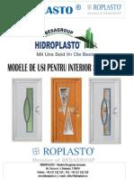 Modele de usi interioare si exterioare din PVC