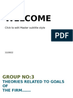 theories related to goals of the firm