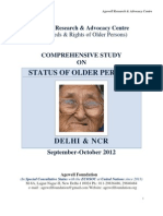 Status of Old People in Delhi-NCR - Sept-Oct 2012