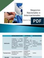 Negocios Nacionales e Internacionales
