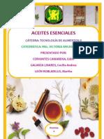Composicion Quimica de Aceites Esenciales