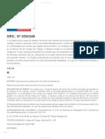 ORD._ Nº 3292_248 - Normativa laboral. Dirección del Trabajo. Gobierno de Chile